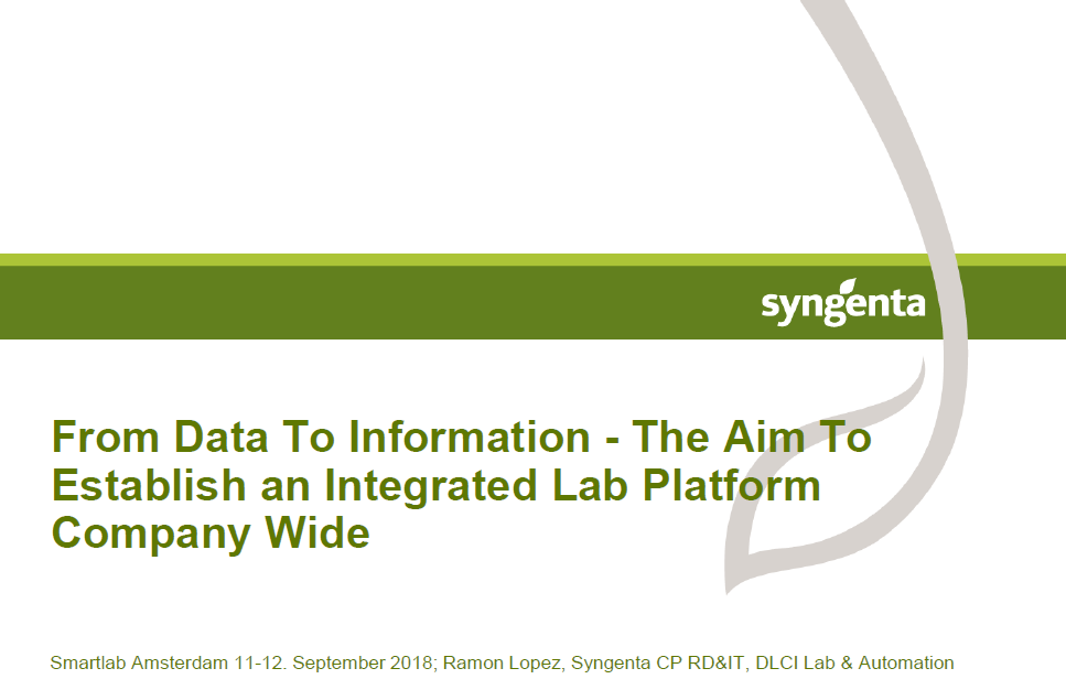 How to establish a company-wide integrated lab platform: