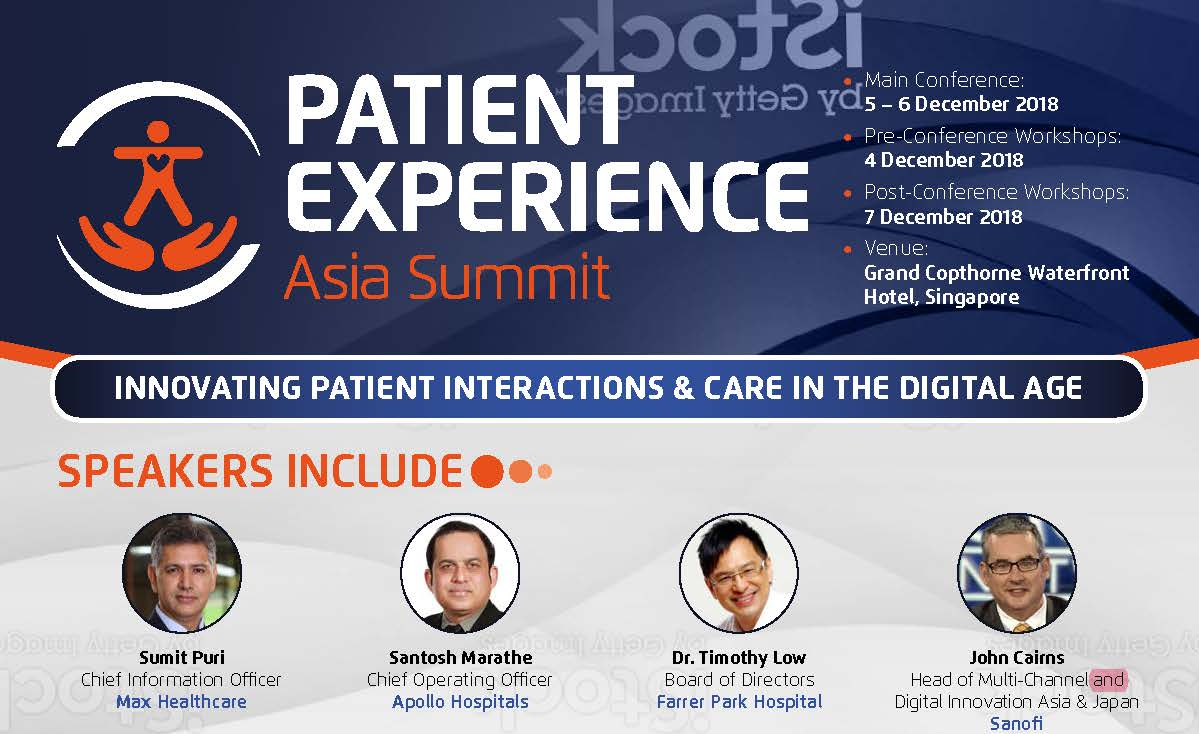 Download the Official Brochure - Patient Experience Asia Summit 2018 spex