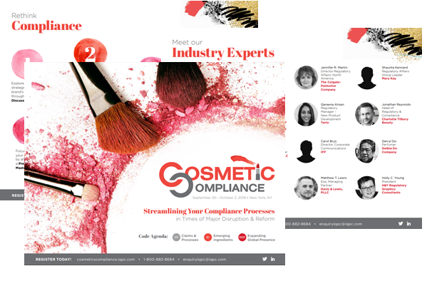 Cosmetic Compliance Fall 2019 Sponsorship Agenda