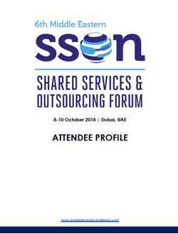 2018 Attendee Profile