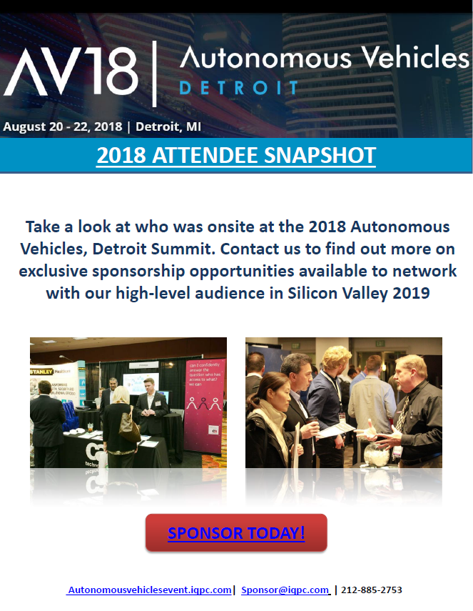 Autonomous Vehicles Detroit 2018 - Attendee List
