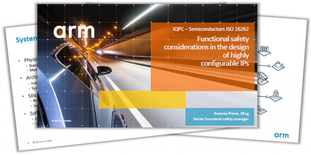 Presentation on functional safety considerations for the design of configurable IPs