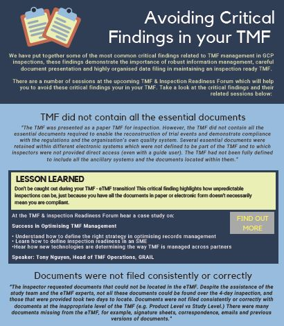 Avoiding Critical Findings in your TMF