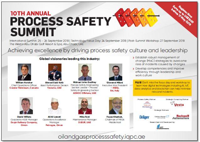 Agenda - 10th Annual Process Safety Summit