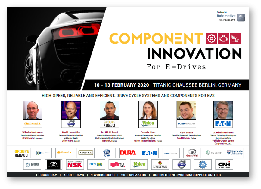 Download the latest agenda for the Component Innovation for E-Drives Conference now!
