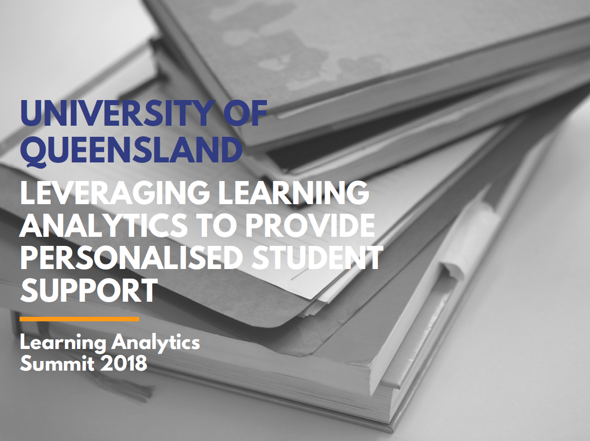 Leveraging Learning Analytics to Provide Personalised Student Support
