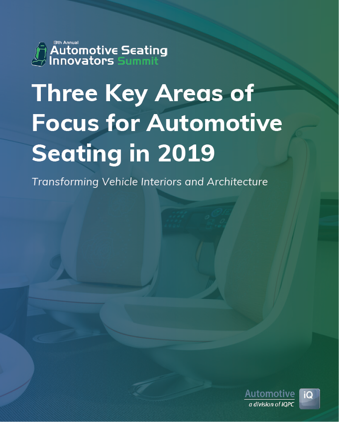 Three Key Areas of Focus for Automotive Seating in 2019