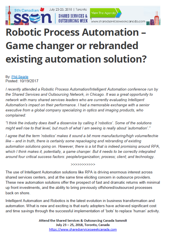 Robotic Process Automation Game changer or re-branded existing automation solution?