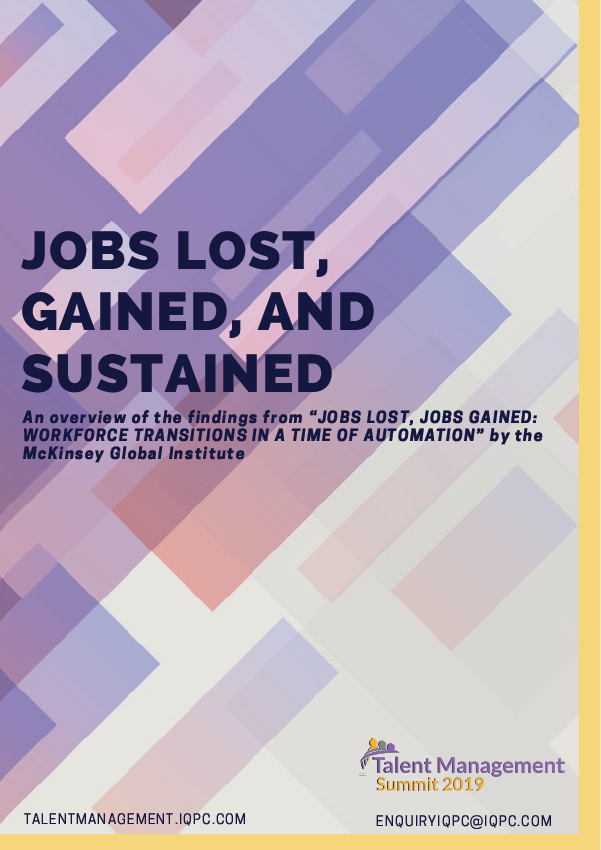 Jobs Lost, Gained, and Sustained