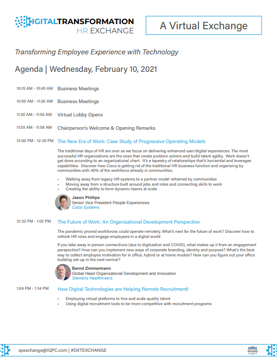 Download the 2021 DXT HR agenda for info on speakers, sessions, and more!