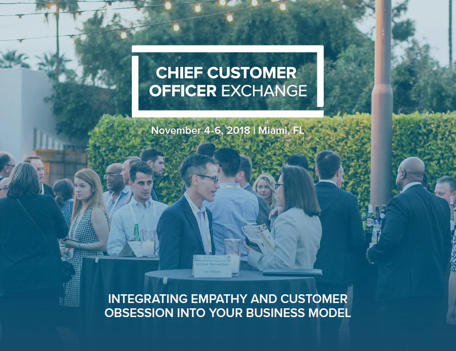 Chief Customer Officer Exchange Agenda