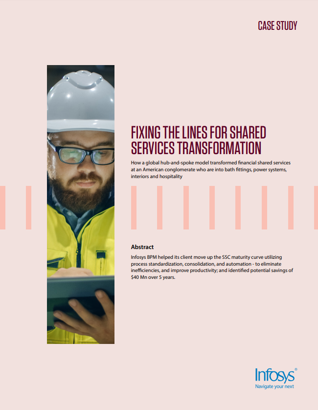 Fixing the Lines for Shared Services Transformation