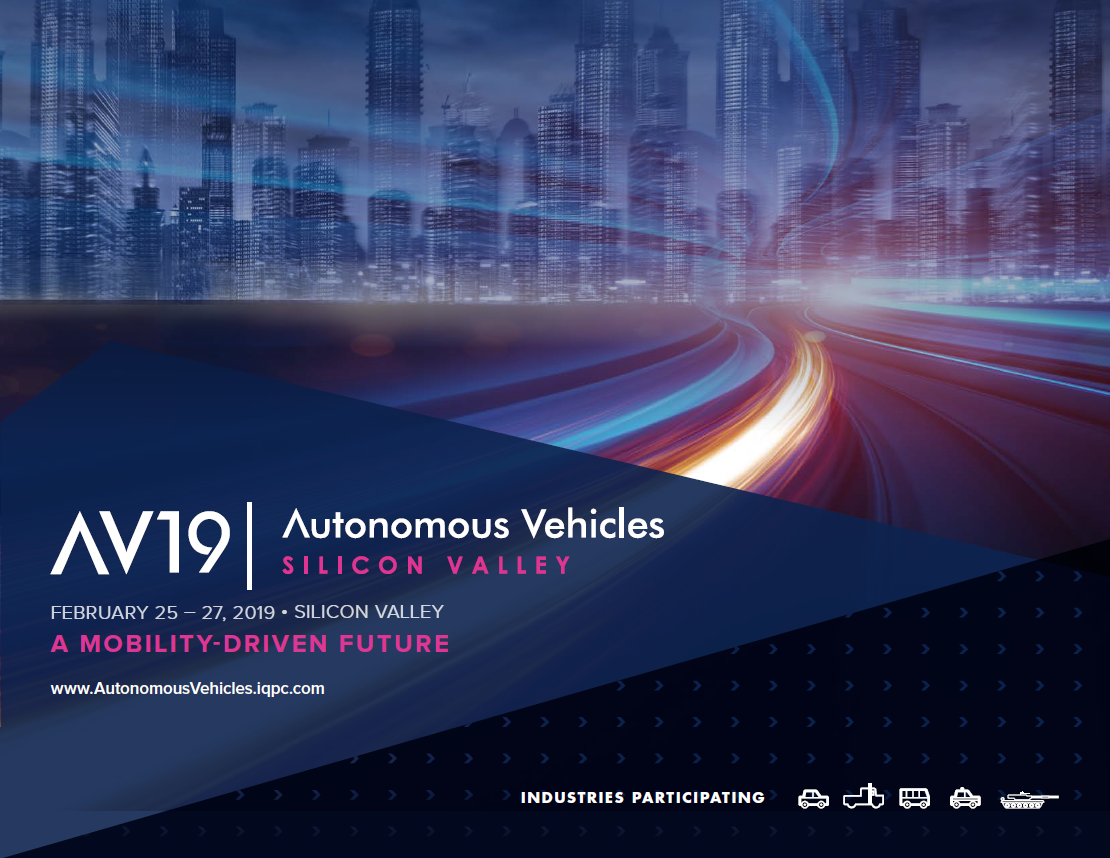 Autonomous Vehicles Silicon Valley 2019 - Agenda