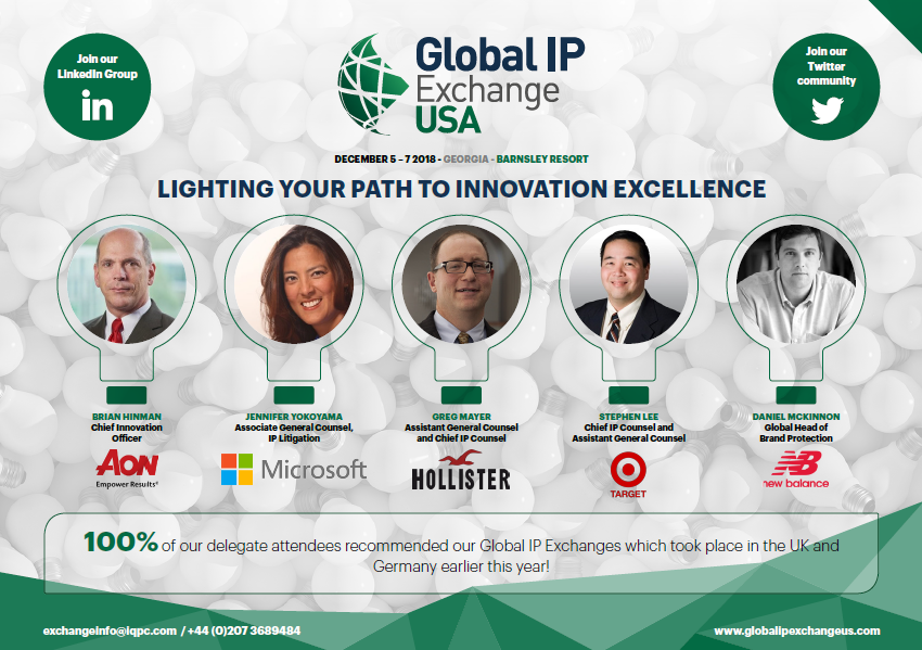 Request your Global IP Exchange 2019 Agenda