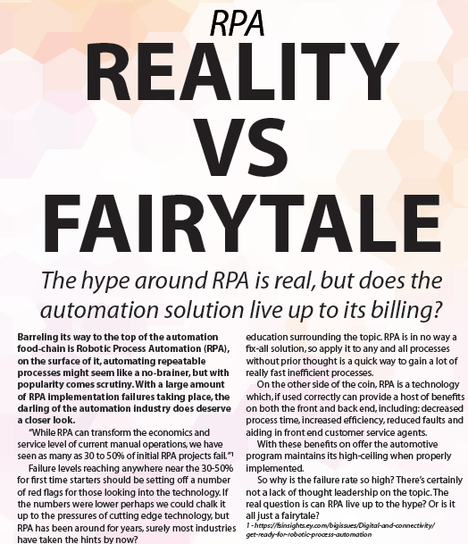 OPEX & Business Tranformation Europe 2019 – spex – RPA-Fairytale