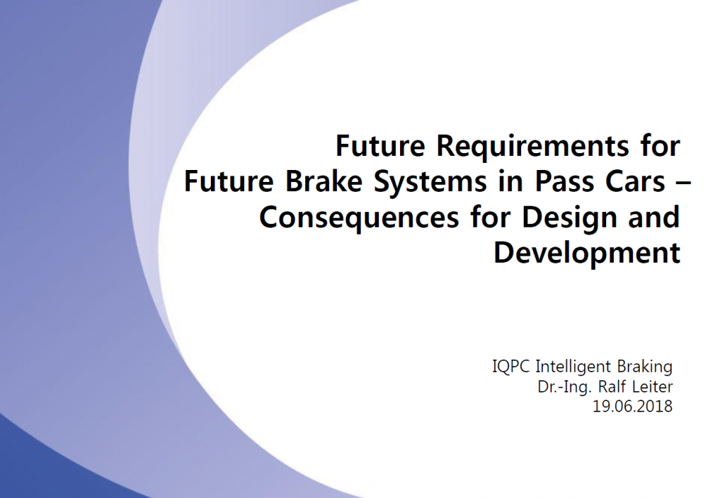 Mando Corporation Presentation on the Future Requirements for Brake Systems
