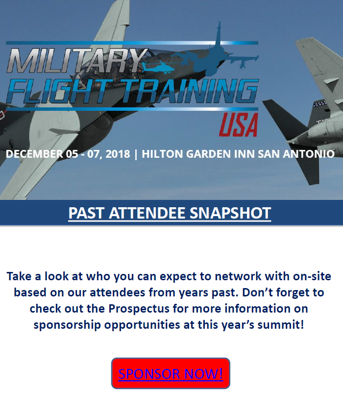 Military Flight Training Past Attendee Snapshot