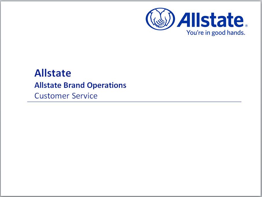 Dan Trudan, SVP Customer Service, Allstate