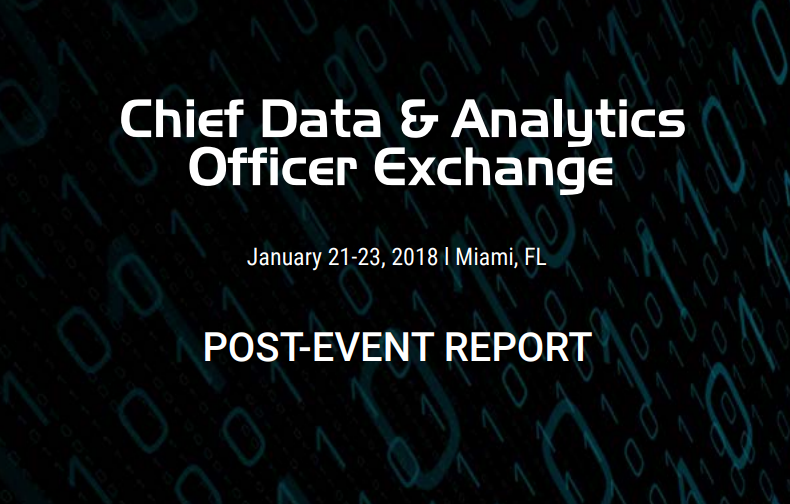 Read the 2018 Chief Data & Analytics Officer Post-Event Report!