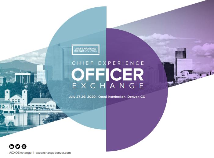 View the Full Event Brochure | CXO Exchange Denver