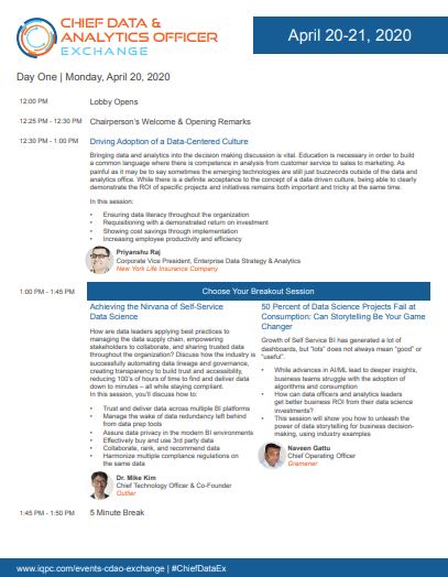 Get the latest! Download the June 2020 Virtual CDAO Agenda.