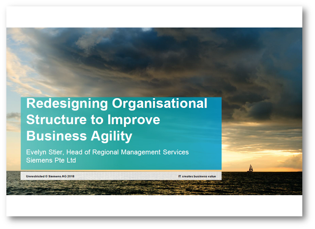 Redesigning Organisational Structure to Improve Business Agility