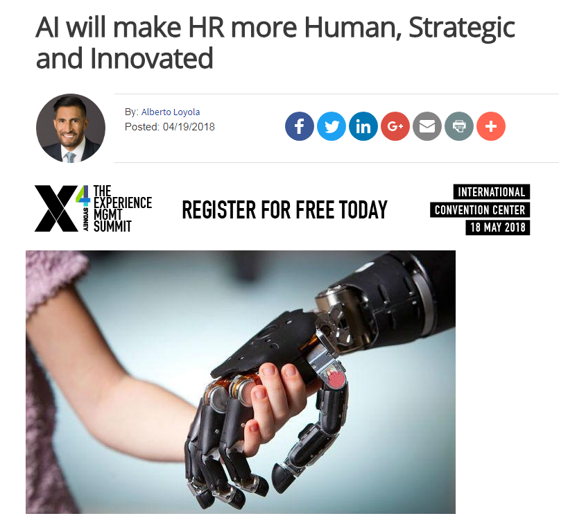 Artificial Intelligence Will Make HR More Human, Strategic and Innovated
