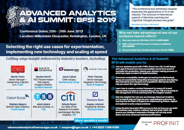 Advanced Analytics and AI Summit BFSI Brochure