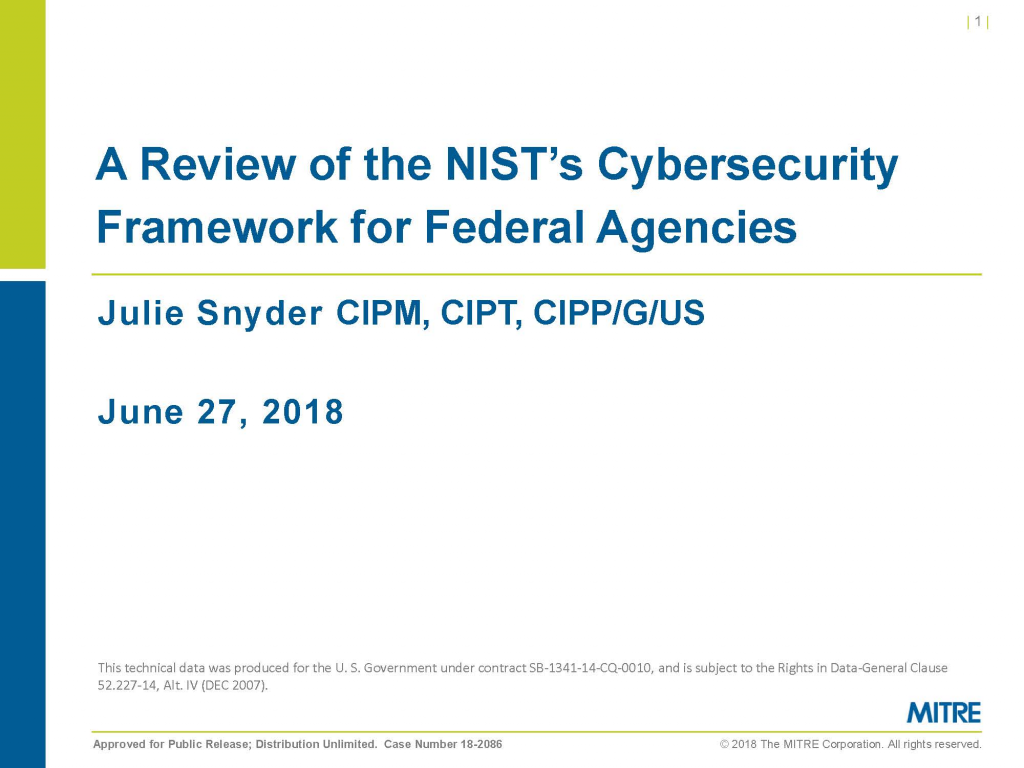 A Review of the NIST's Cybersecurity Framework for Federal Agencies
