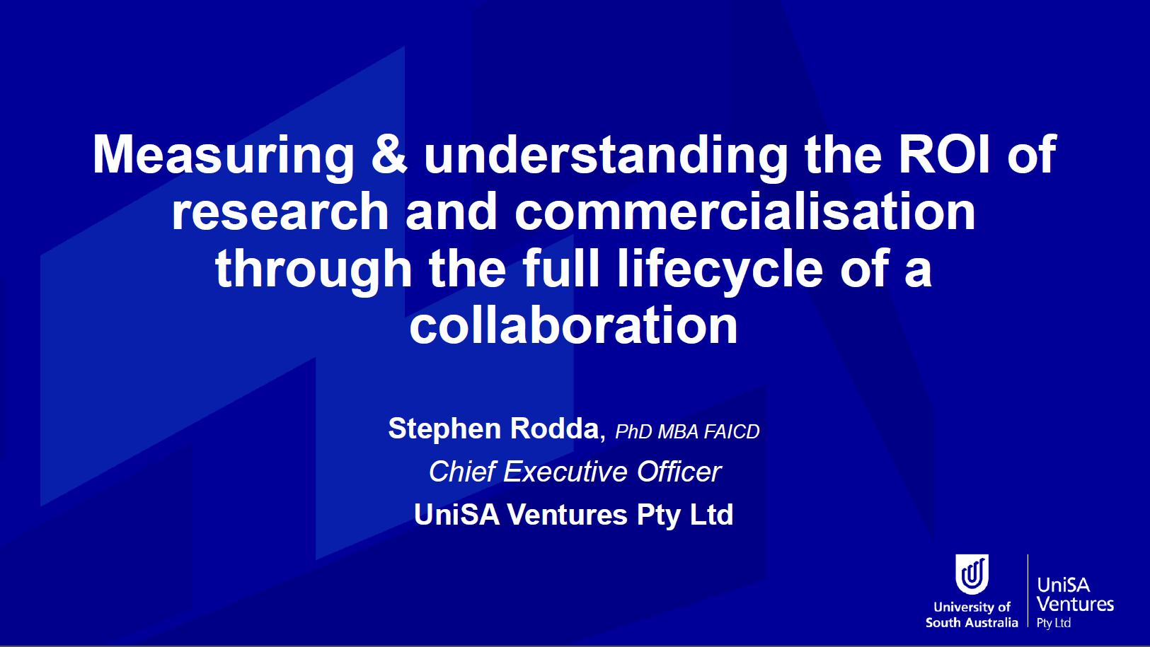 Measuring & Understanding The ROI of Research and Commercialisation Through the Full Lifecycle of a Collaboration