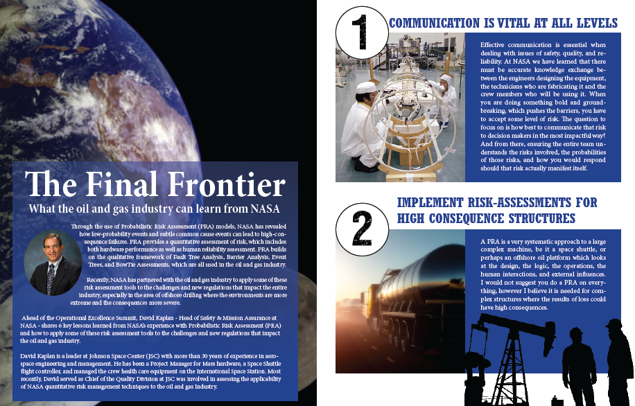 The Final Frontier - What the oil and gas industry can learn from NASA's PRA tools