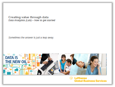 Presentation: Creating value through data at Lufthansa GBS