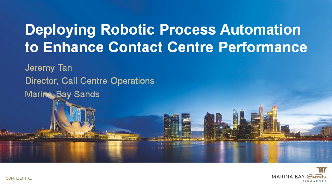 Deploying Robotic Process Automation to Enhance Contact Centre Performance