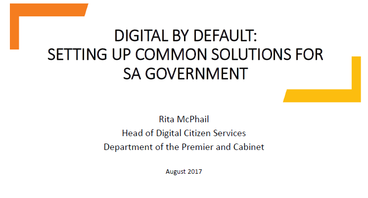 Digital by Default: Setting up Government's Single  Entry Point