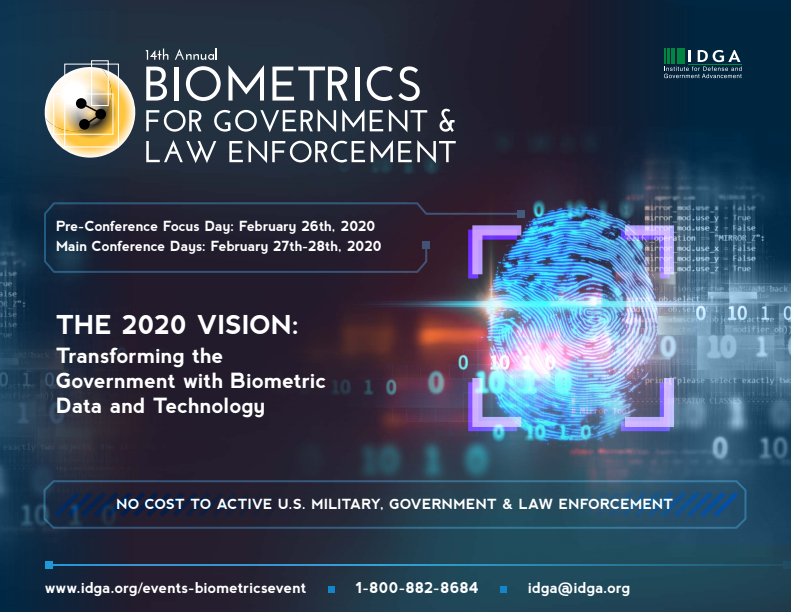 14th Annual Biometrics for Government & Law Enforcement 2020 Agenda