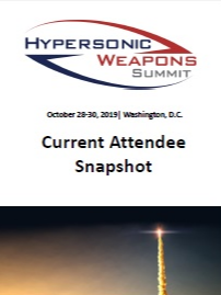 Hypersonic Weapons Summit 2019 - Current Attendee Snapshot