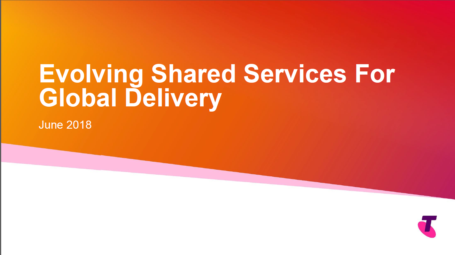 Implementing and Evolving a Global Shared Services Centre