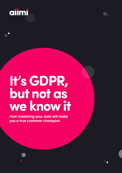 It's GDPR, But Not As We Know It