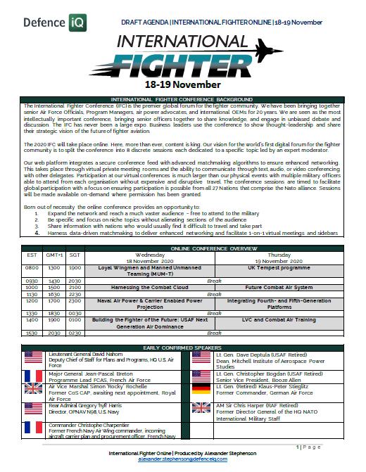 International Fighter Brochure
