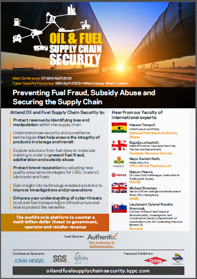 Download the Oil and Fuel Supply Chain Security Agenda