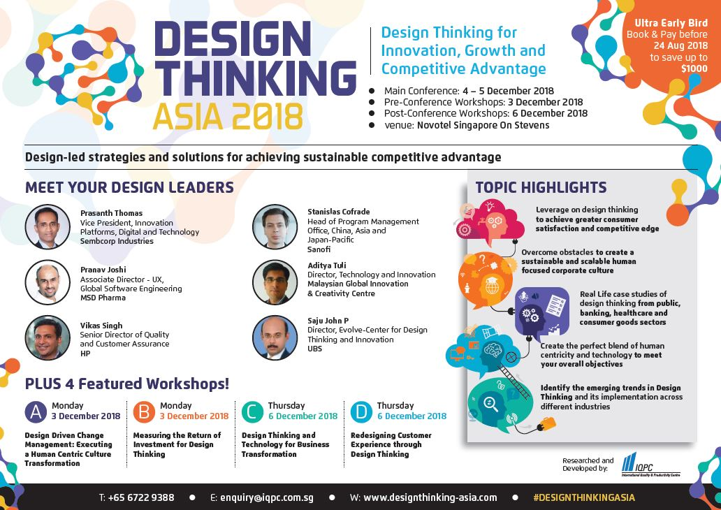 View your Design Thinking Asia 2018 Brochure