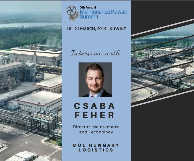 Exclusive interview with Csaba Feher, Director, Maintenance and Technology, MOL, Hungary