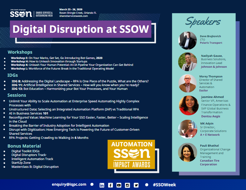Digital Disruption at SSOW