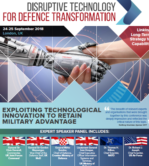 Disruptive Technology for Defence 2018 - Agenda
