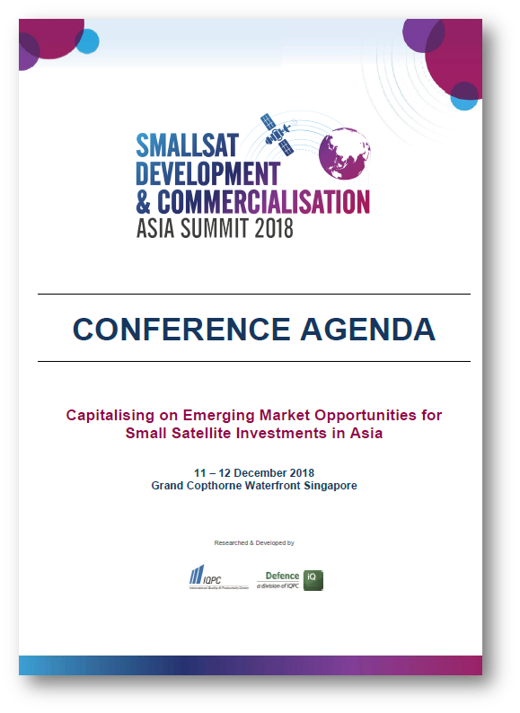 View Agenda - Smallsat Development and Commercialisation Asia Summit 2018