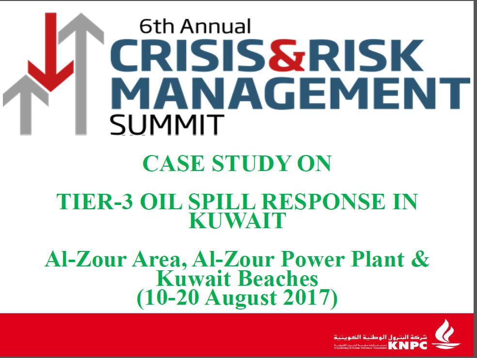 KNPC's presentation on: Tier-3 Oil Spill Response in Kuwait