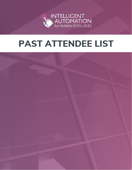 IA in HR 2019: Past Attendee List