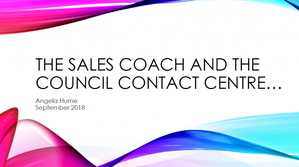 The Coach and the Contact Centre