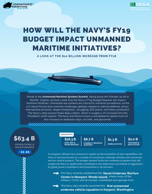 Unmanned Maritime Systems - 2018-2019 Budget Request for UMS Report