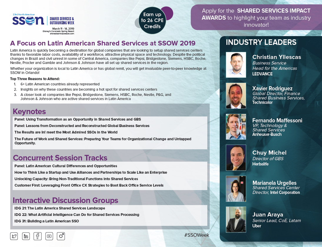 Latin American Topics at SSOW